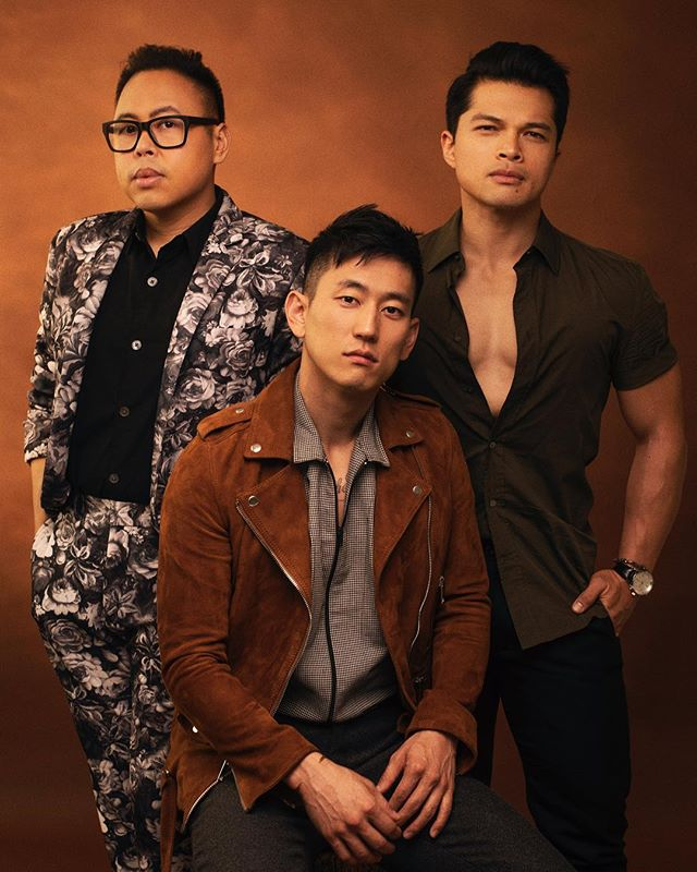 New cover for The Advocate with Nico Santos, Jake Choi and Vincent Rodriguez.
