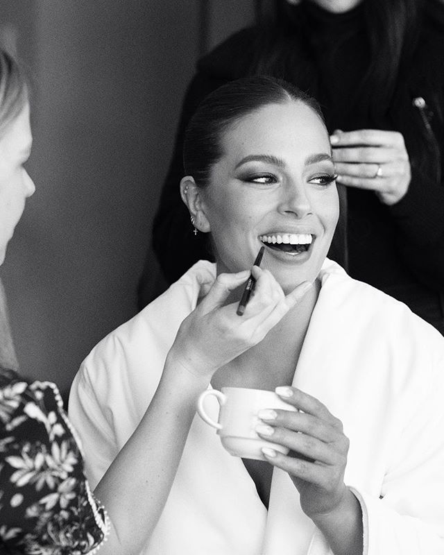 Oscars prep with @ashleygraham this morning.