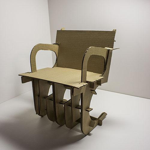Mies BRNO Cardboard Chair Interpretation