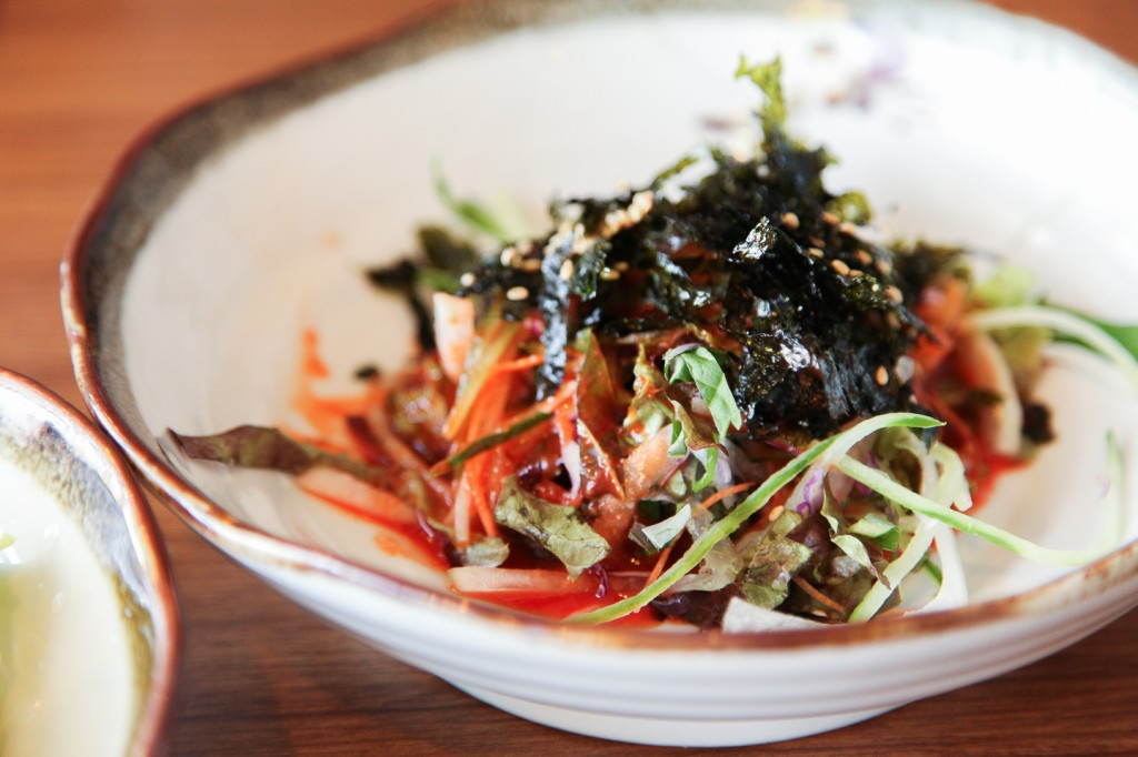 Perilla leaves are an acquired taste. However the Perilla Seed Salad (들깨샐러드) can be enjoyed by many customers. Only a hint of perilla leaves. Not overpowering at all.