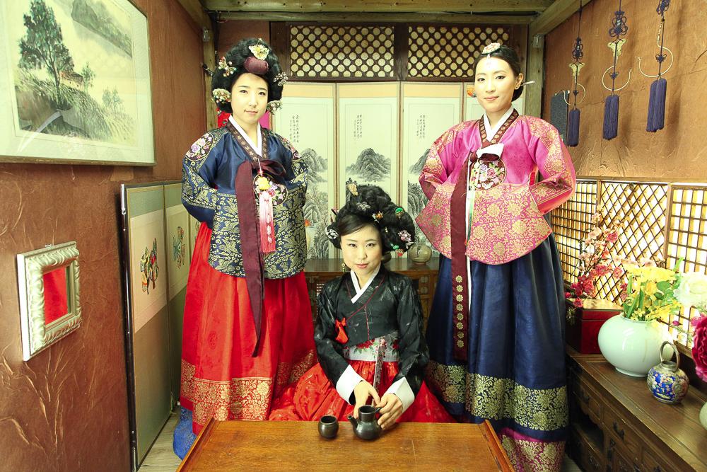 hanbok photoshoot tea