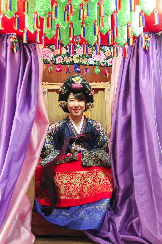 royal red blue hanbok