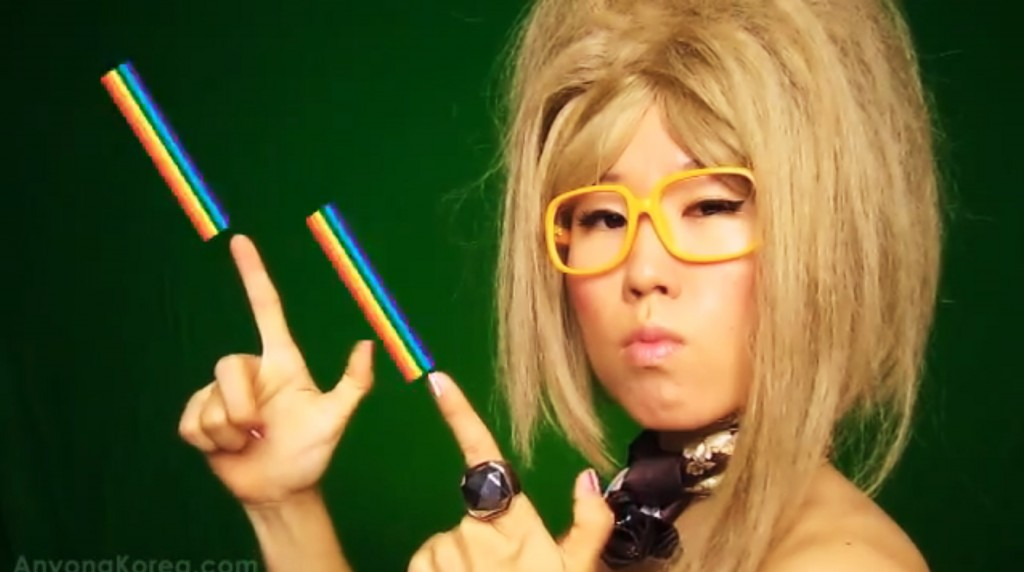 Billy Jin shoots rainbows out of her fingers.