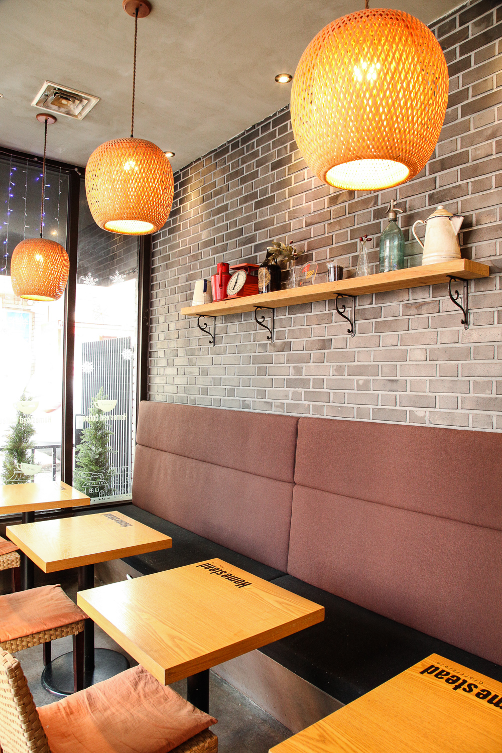 homestead coffee interior seating