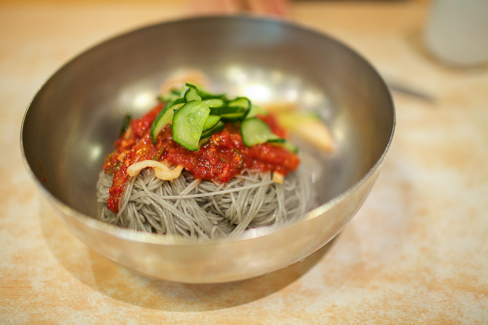 raw fish naengmyeon