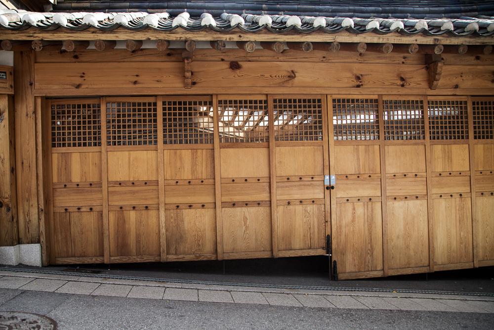 bukchon angled garage
