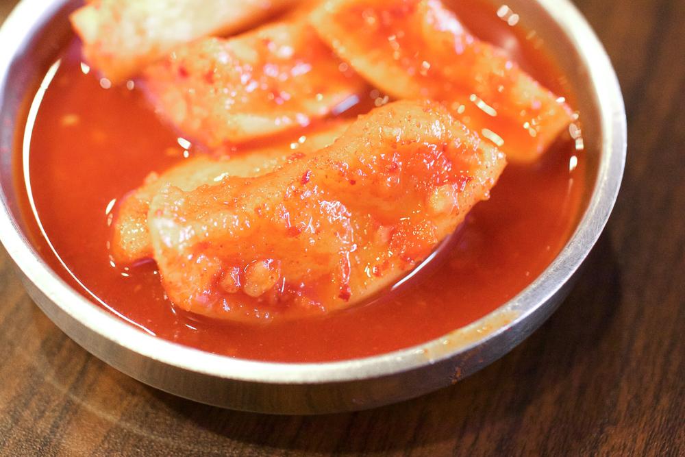 Radish kimchi.