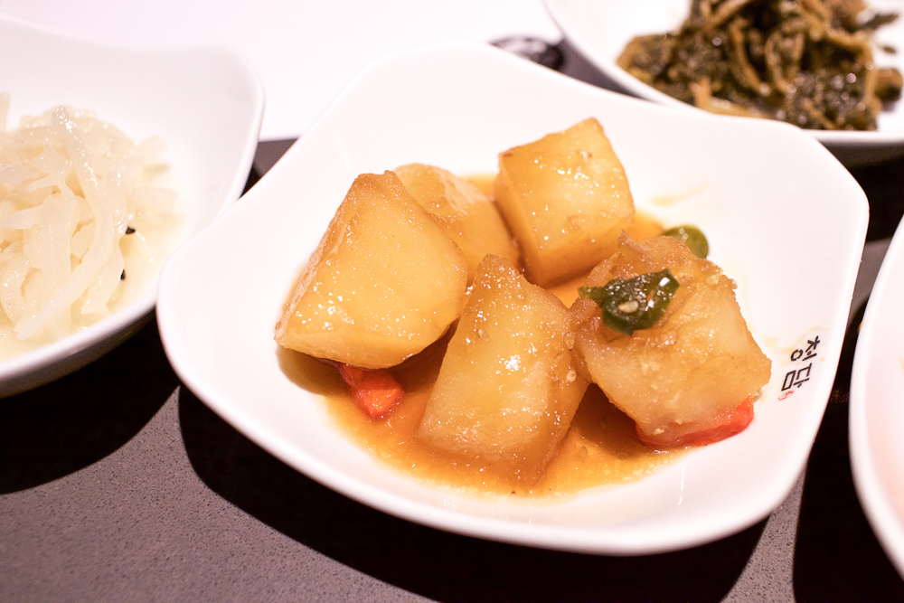 Potato and soy sauce side dish