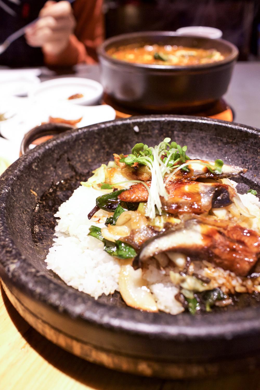 Another beauty shot of Bibimbap Grilled Eel