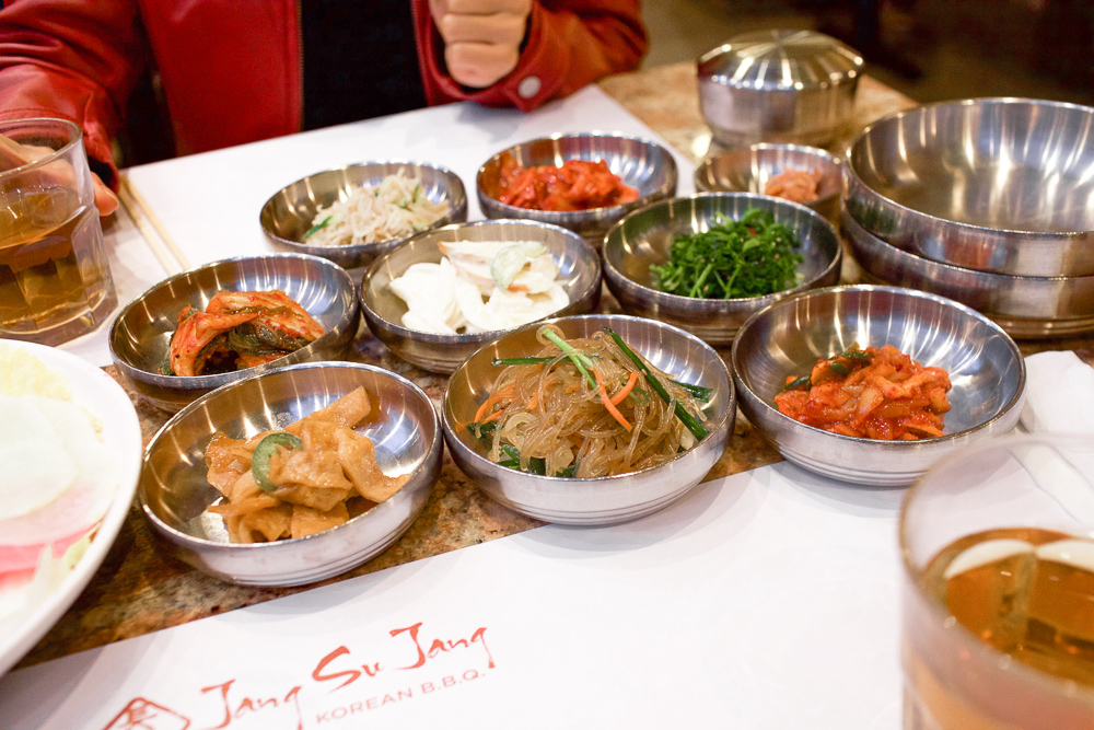 Eight types of side dishes served on our visit. Unlimited refills just like any other Korean restaurant.