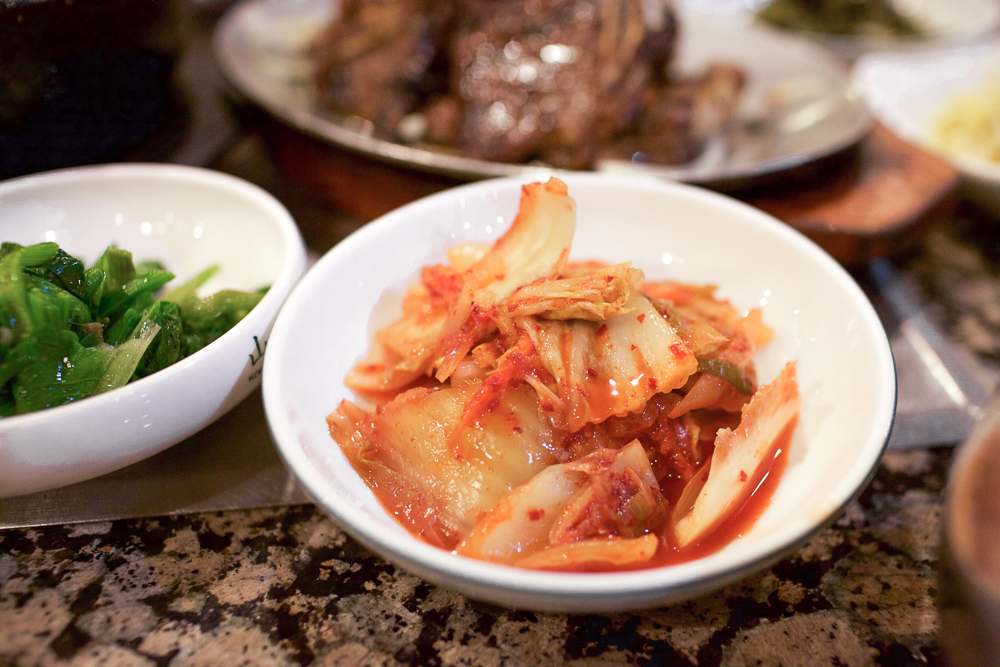 The top five Napa Cabbage Kimchi in NorCal that I've tried thus far. Spicy. Not sweet.