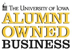 PROUD GRAD - UI-alumni entrepreneurs are all over—more than 70 of them own businesses in the Downtown and Northside. Look for the Iowa alumni window cling when you're out and about.