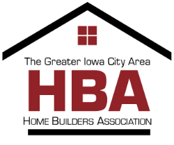 PROUD MEMBER - The Greater Iowa City Area Home Builders Association represents the strength of the local building industry; builders, remodelers, developers, suppliers, designers, engineers, real estate brokers, accountants, and other industry professionals.