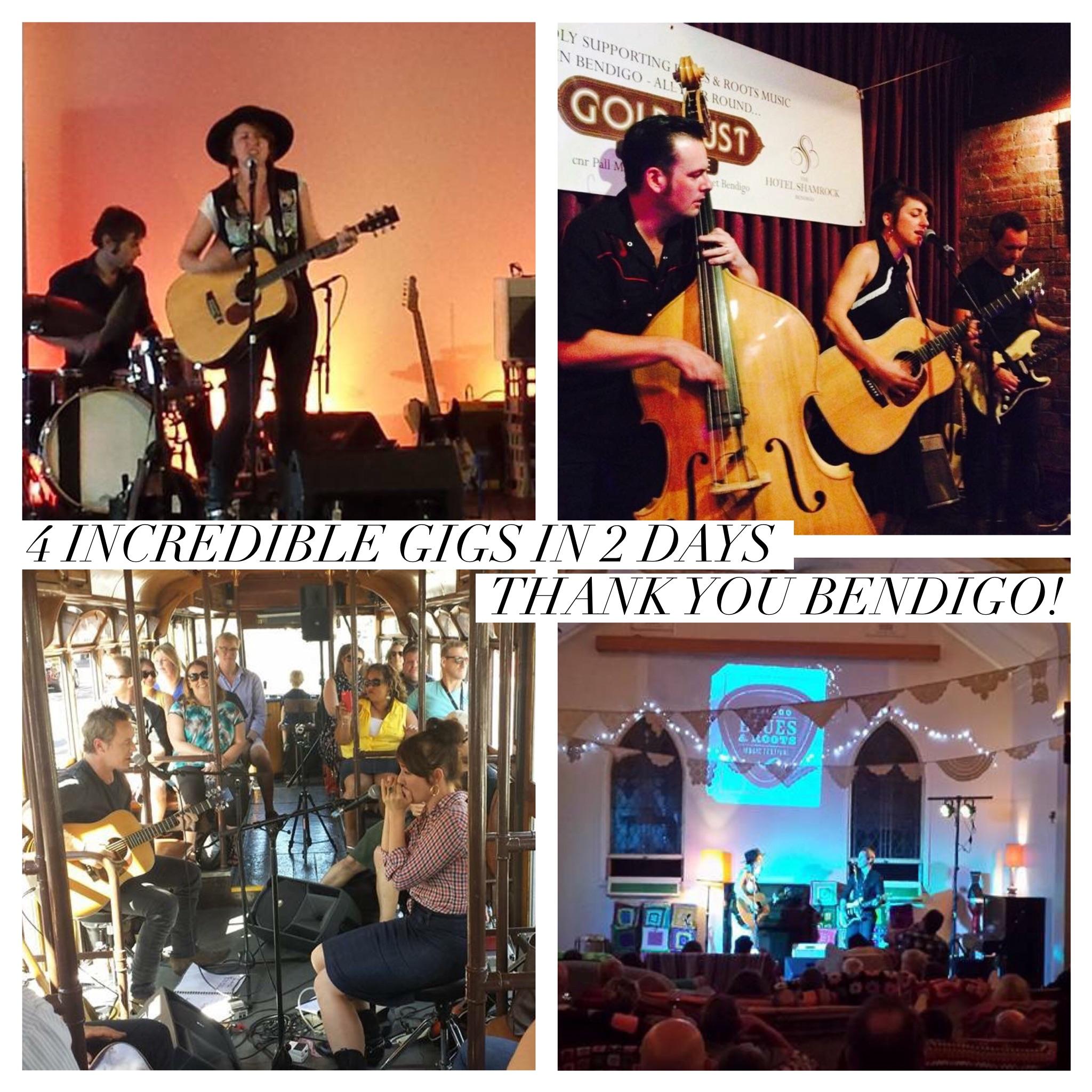 4 gigs in 2 days in Beautiful Bendigo
