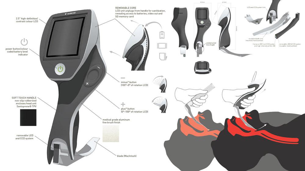 product design  /  video laryngoscope prototype