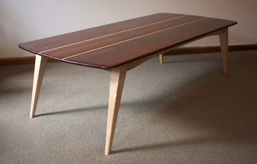 Iron bark and oak coffee table - weld + fathom