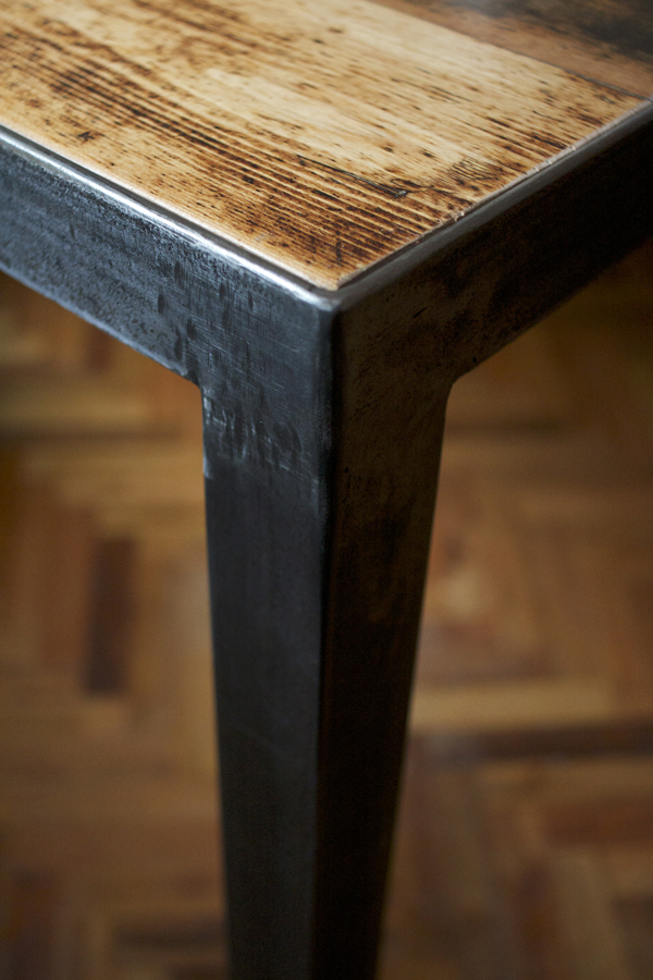 Steel and kauri dining table for eight - weld + fathom