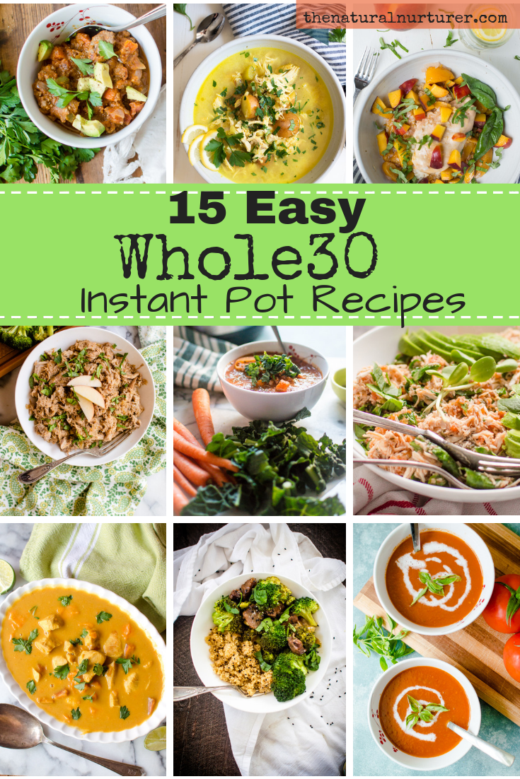 Whether you are currently knee deep in a round of Whole30, prepping for one or are just madly in love with your Instant Pot (like me) and are always game for a new healthy recipes to make in it…this round-up is for you! #instantpotwhole30 #wholerecipes #healthyinstantpot