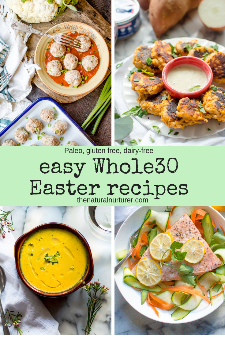 If you find yourself in the middle of a Whole30 round this Easter , find inspiration in these easy recipes to have a tasty, healthy holiday that is still on program. #easywhole30recipes #whole30easter