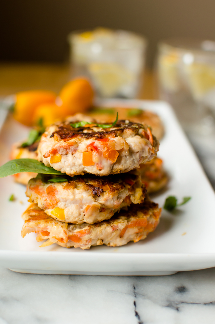 These Healthy & Easy Turkey Burgers are easy to make and are packed with so many vegetables! The perfect blend of sweet and savory, these burgers are loaded with flavor. Naturally Paleo, Whole30 when enjoyed bunless and something everyone will enjoy! #healthyburgers #easyburgers #Paleo #whole30
