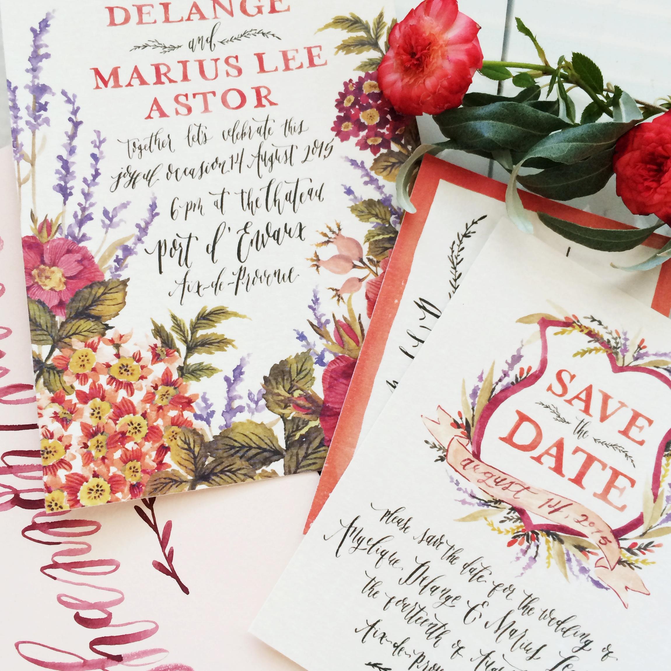 Wedding Invitation by Annie Mertlich | Wildfield Paper Co.