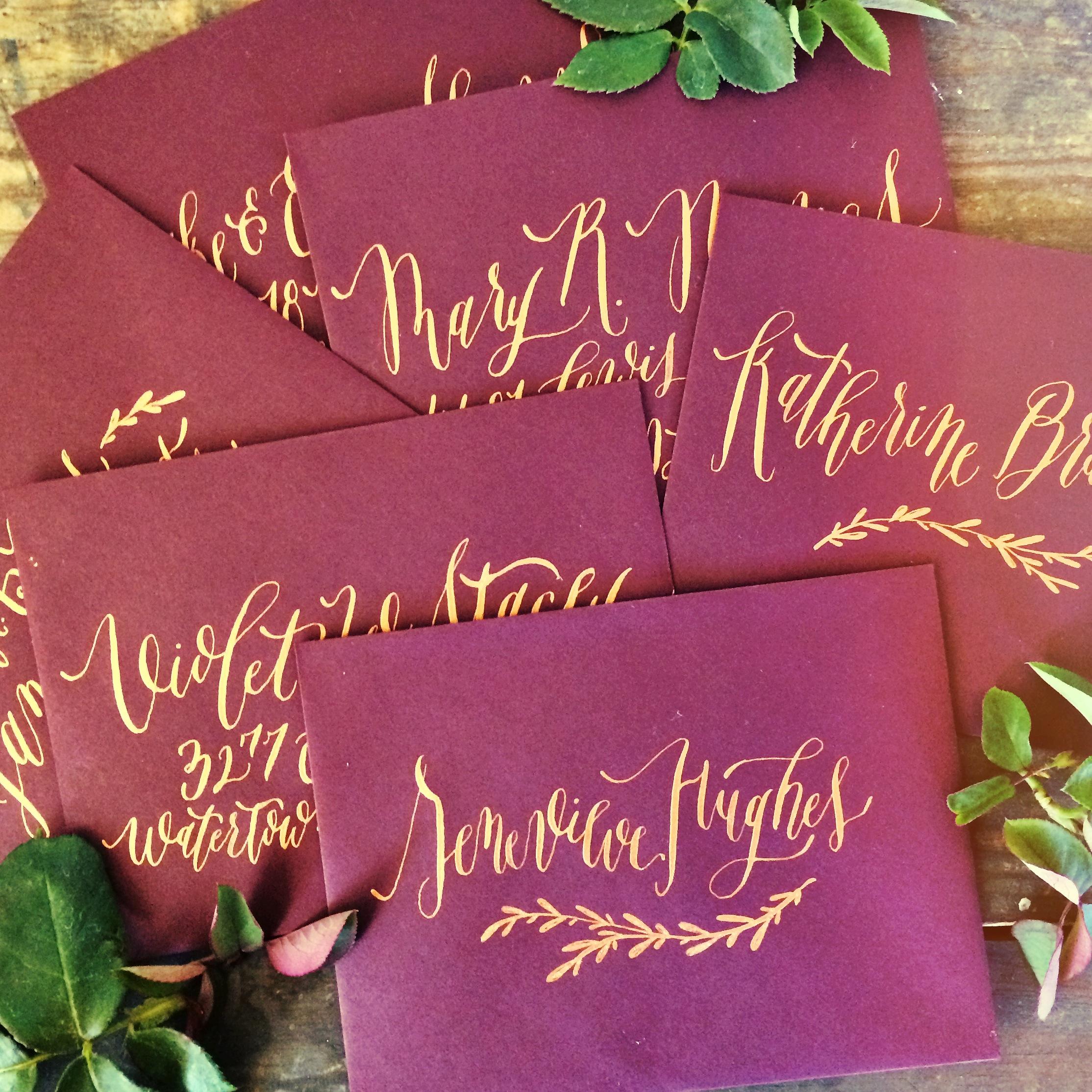 Envelope Calligraphy by Annie Mertlich | Wildfield Paper Co.