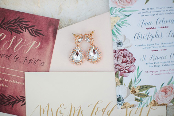Wedding stationery by Annie Mertlich of Wildfield Paper Co. & photo by Callie Hobbs Photography