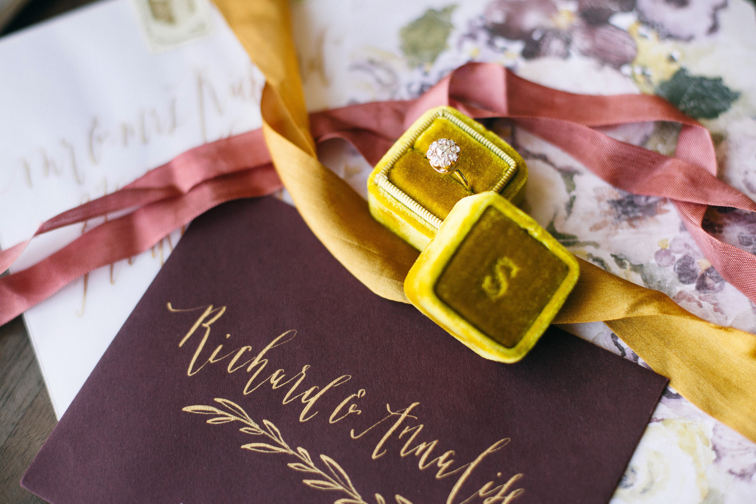 Wedding stationery by Annie Mertlich of Wildfield Paper Co. & photo by Shannon Elizabeth Photography
