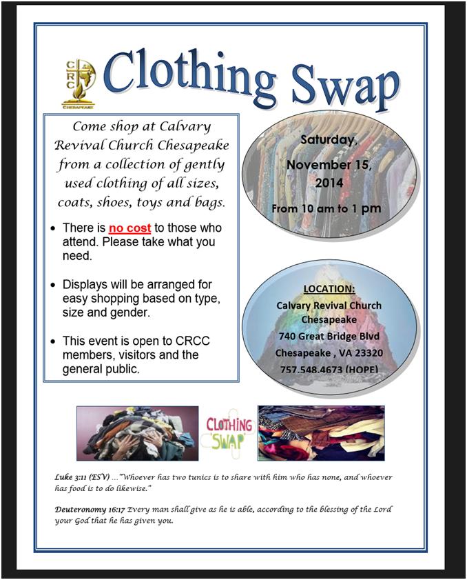 Clothing Swap Flyer