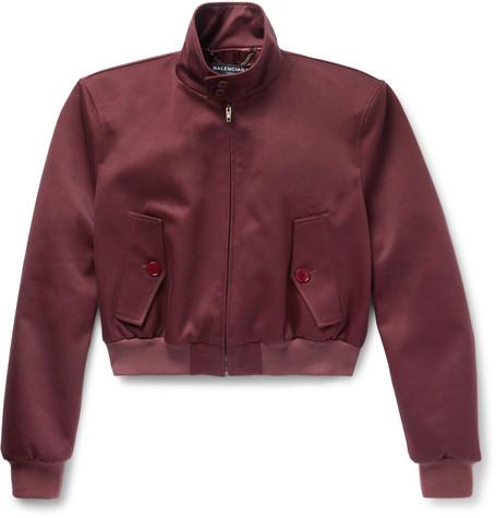 Boxy Twill Harrington Jacket