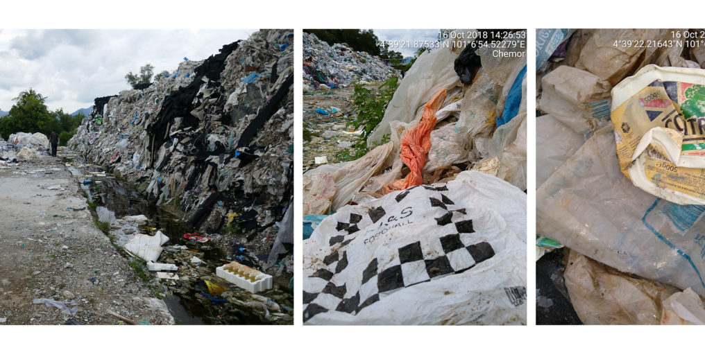 Household plastic waste from the UK found at a dump site in Ipoh, Malaysia. Photo: Unearthed.