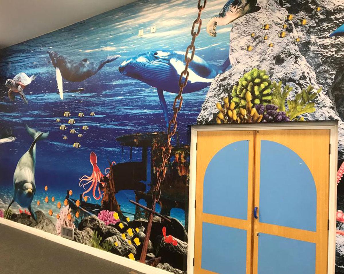 Undersea Vinyl Wallpaper