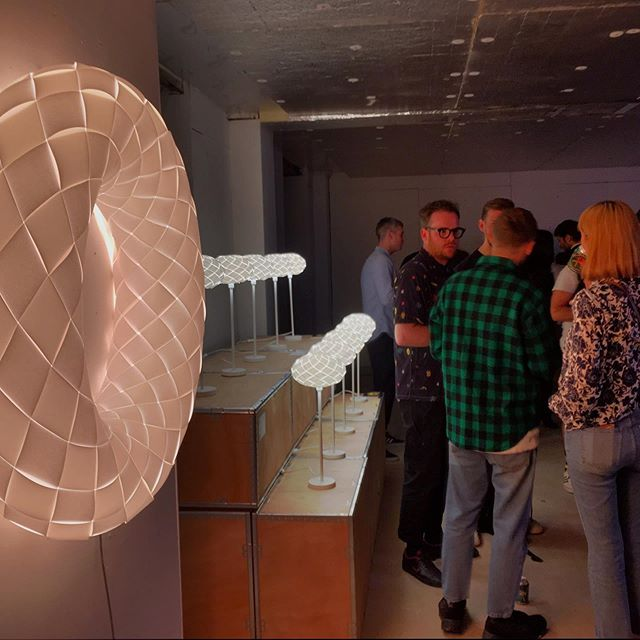 Opening night at @south_east_makers_club @l_d_f_official with lighting by us and good times by others.  #ldf #londondesignweek #londondesignfair #deptford #weave #ledlighting #woven #geometry #southeastlondon #deptfordmarket