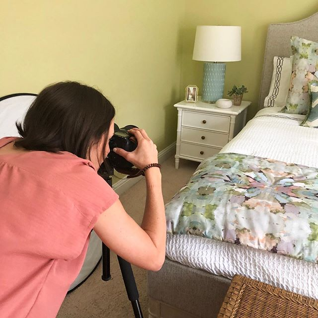 Days like today are what I love most about my job. After months of designing, shopping and waiting for custom furniture, we finally get to reveal a room to our clients that they love! When we get this good of a reaction, we have to share it! See more on stories! Official reveal of #magnoliapl #guestroom will be up next week, but here's a fun sneak peek at the behind the scenes. Thanks so our amazing 📷@laurarowephotography we're so excited to be working together! #interiordesign #mobilealabama