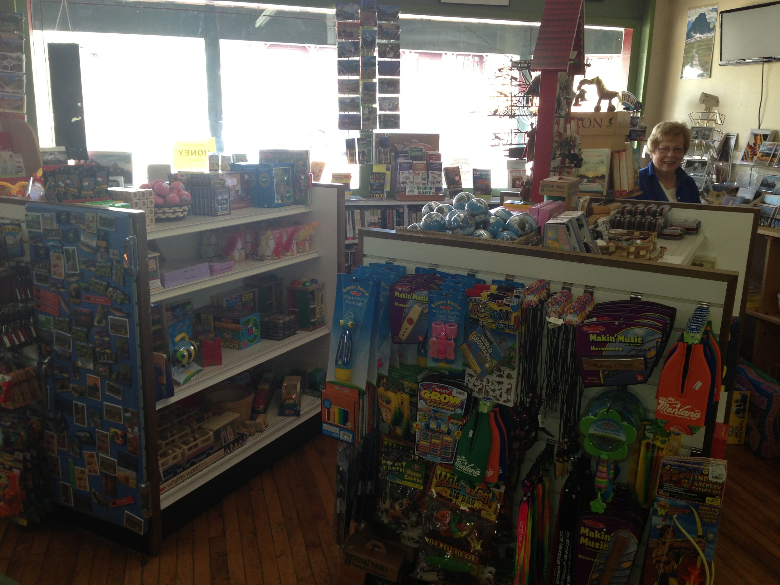 Toys, magnets, art-quality posters and Christmas ornaments--just a few of the items available at The Glacier Park Trading Company.