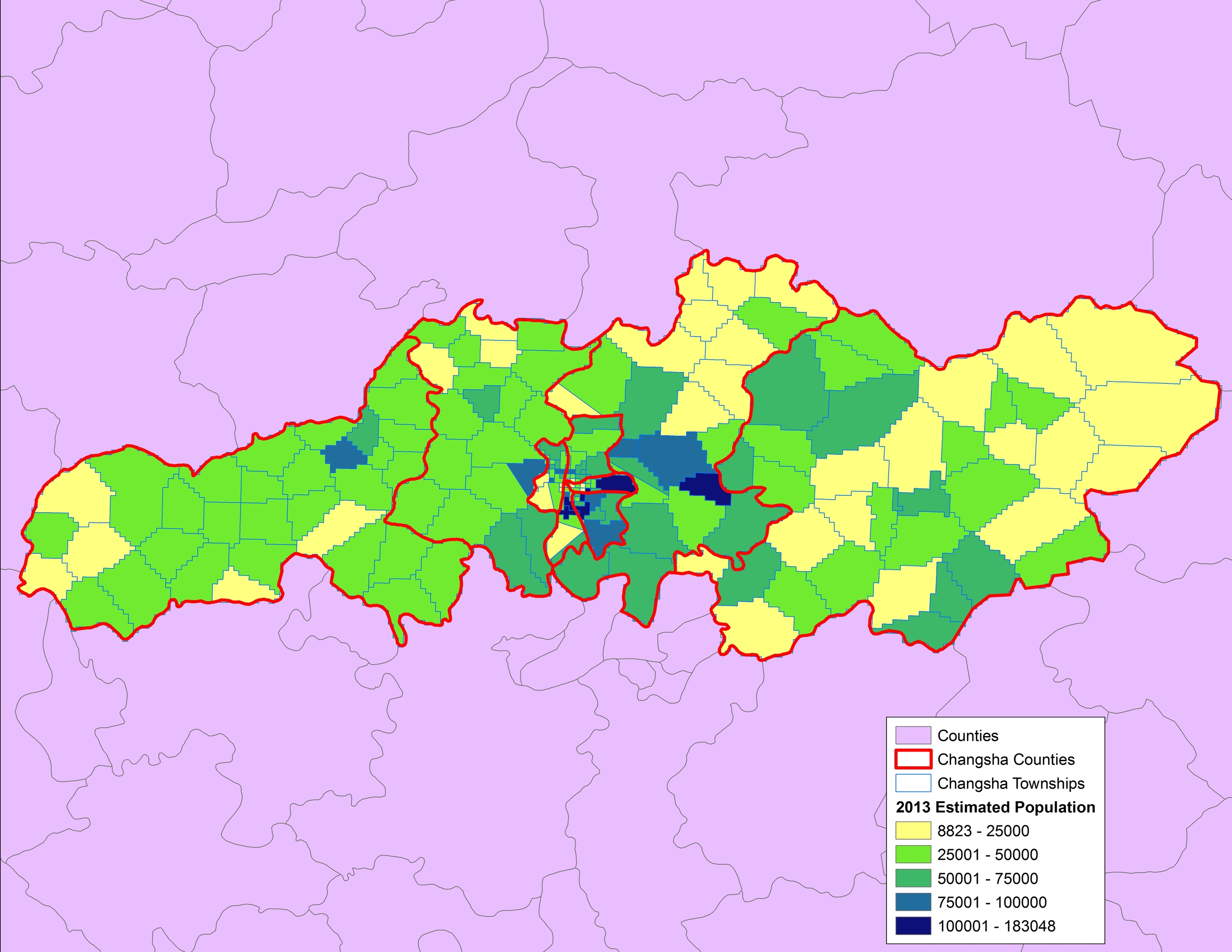 2013 Estimated Population by Township
