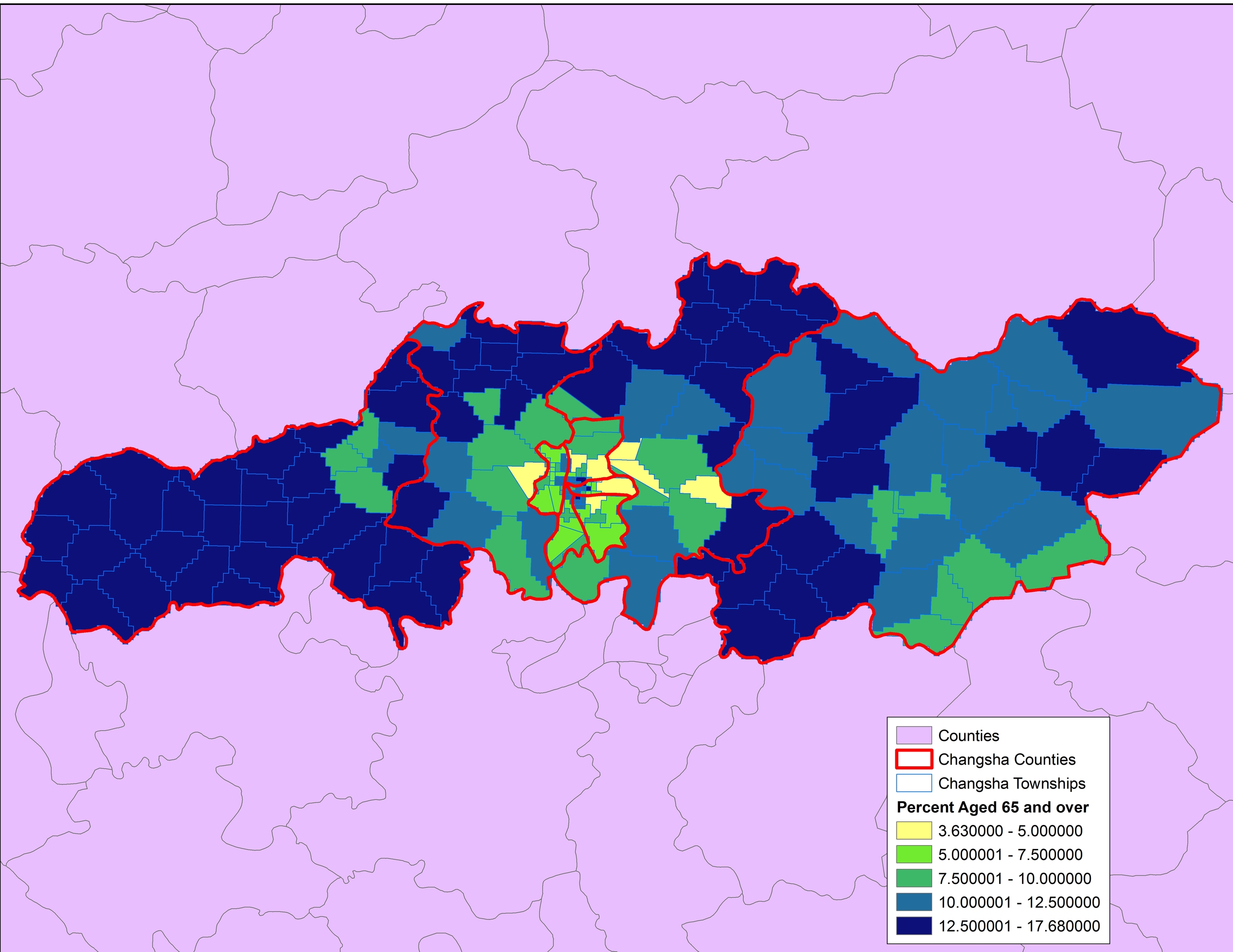 2013 Estimated Population - Percent Aged 65 and over