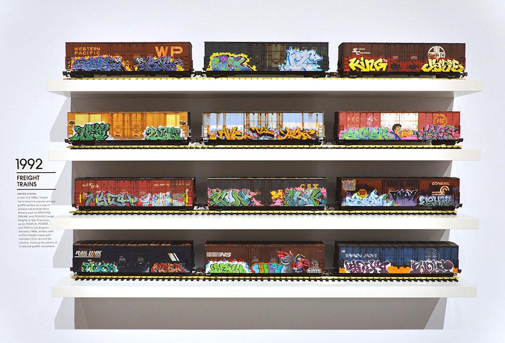 Freight Train Graffiti, Los Angeles Museum of Contemporary Art, LA MOCA, Art in the Streets, Tim Conlon Art