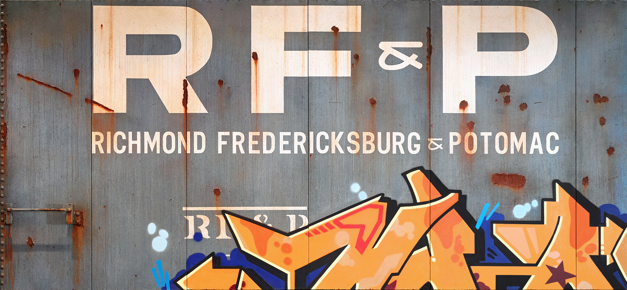 Blank Canvas #64 - RF&P, Freight Train Painting, Boxcar Painting, Railroad Art, Tim Conlon Art
