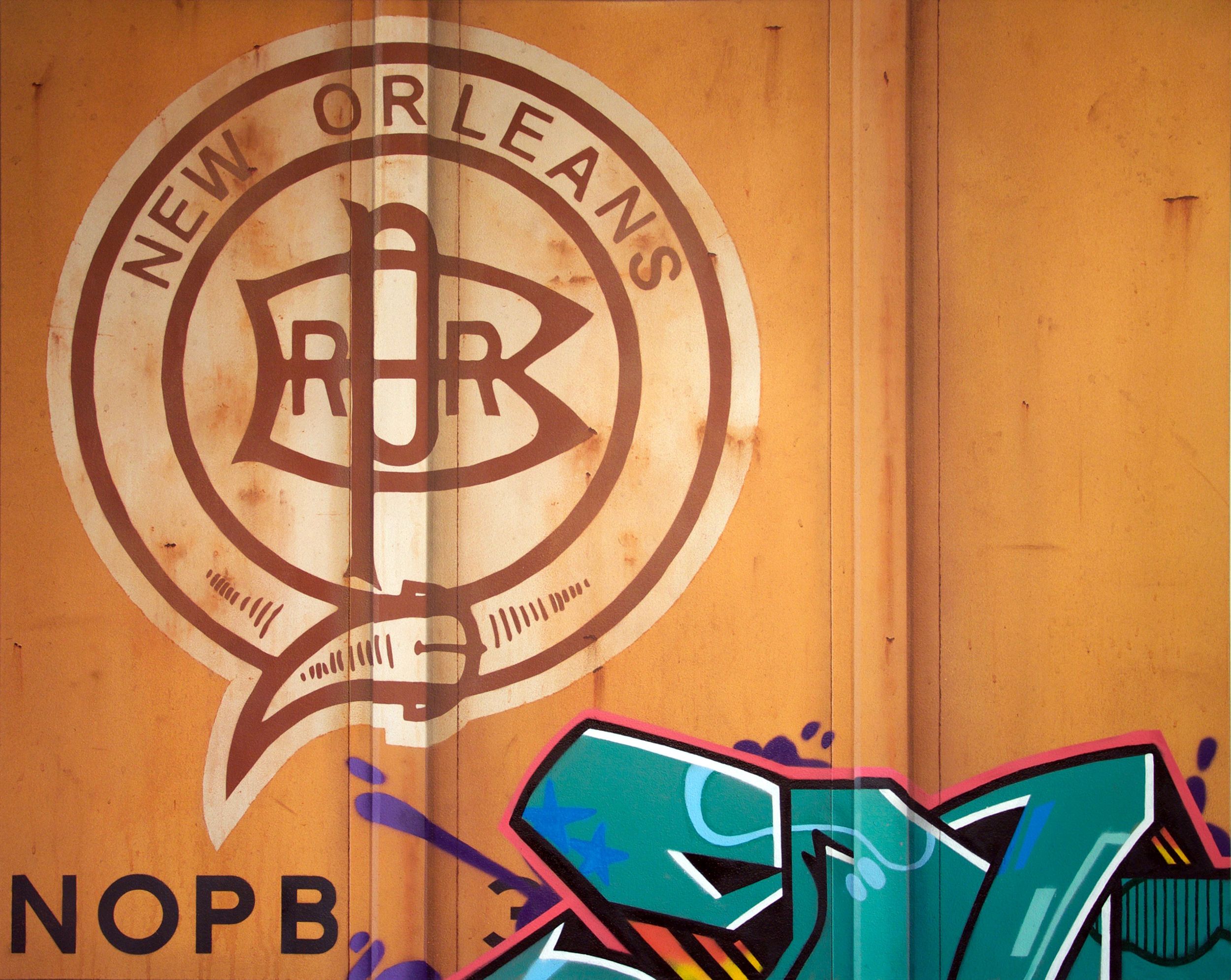 Blank Canvas #67 - NOPB, Freight Train Painting, Boxcar Painting, Railroad Art, Tim Conlon Art