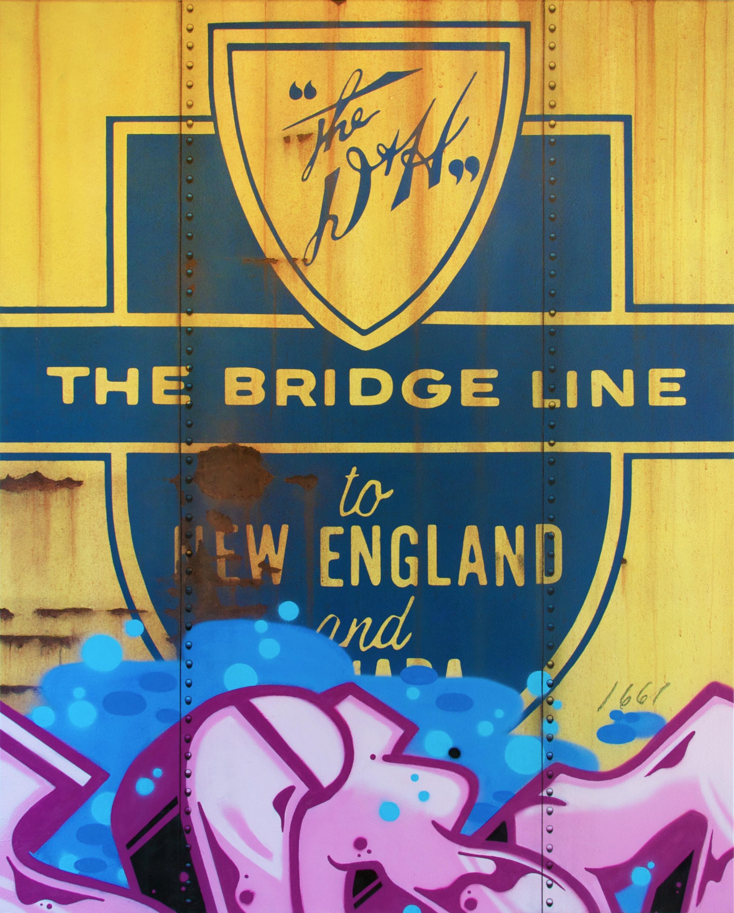 Blank Canvas #63 - D&H, Freight Train Painting, Boxcar Painting, Railroad Art, Tim Conlon Art