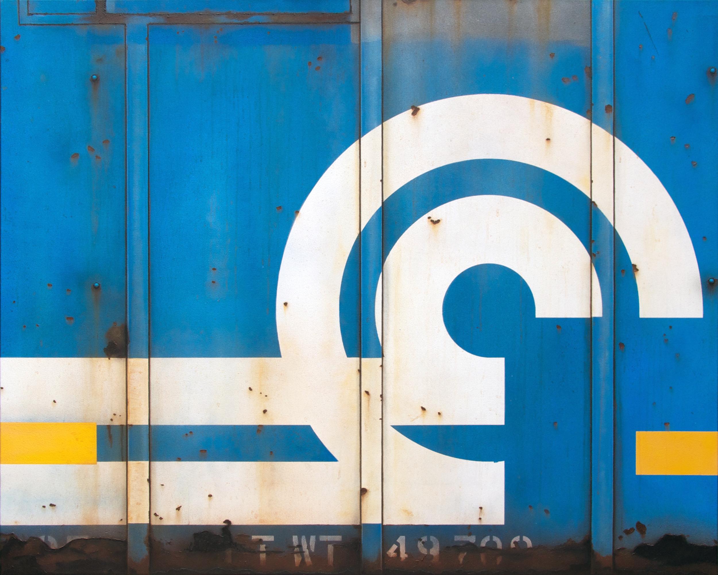 Blank Canvas #62 - Conrail, Freight Train Painting, Boxcar Painting, Railroad Art, Tim Conlon Art
