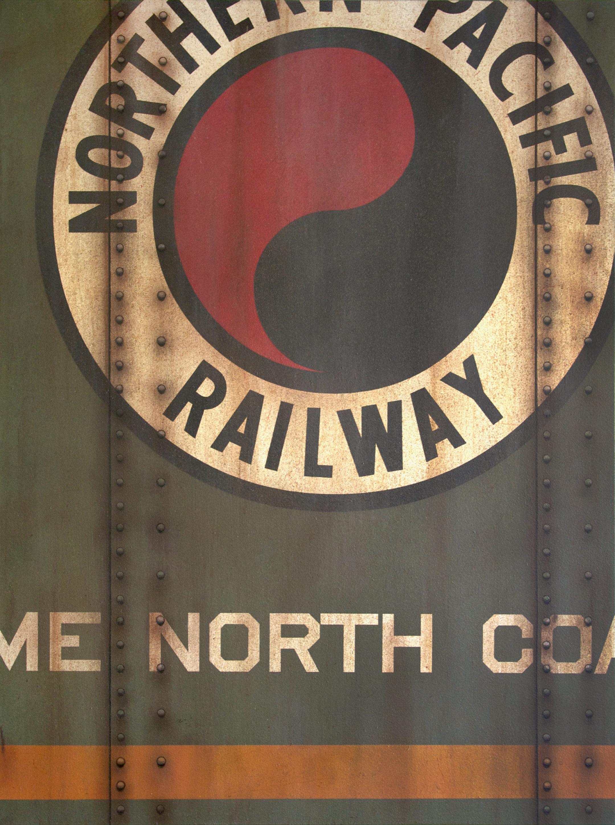 Blank Canvas #60 - NP, Freight Train Painting, Boxcar Painting, Railroad Art, Tim Conlon Art