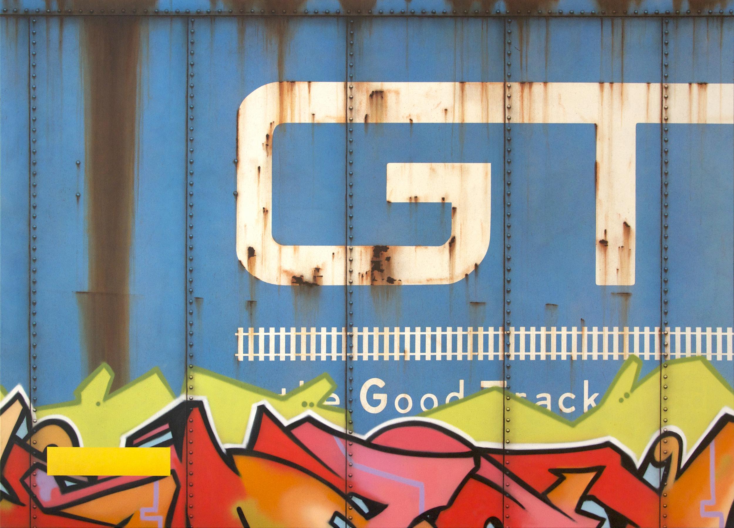 Blank Canvas #52 - GTW, Freight Train Painting, Boxcar Painting, Railroad Art, Tim Conlon Art