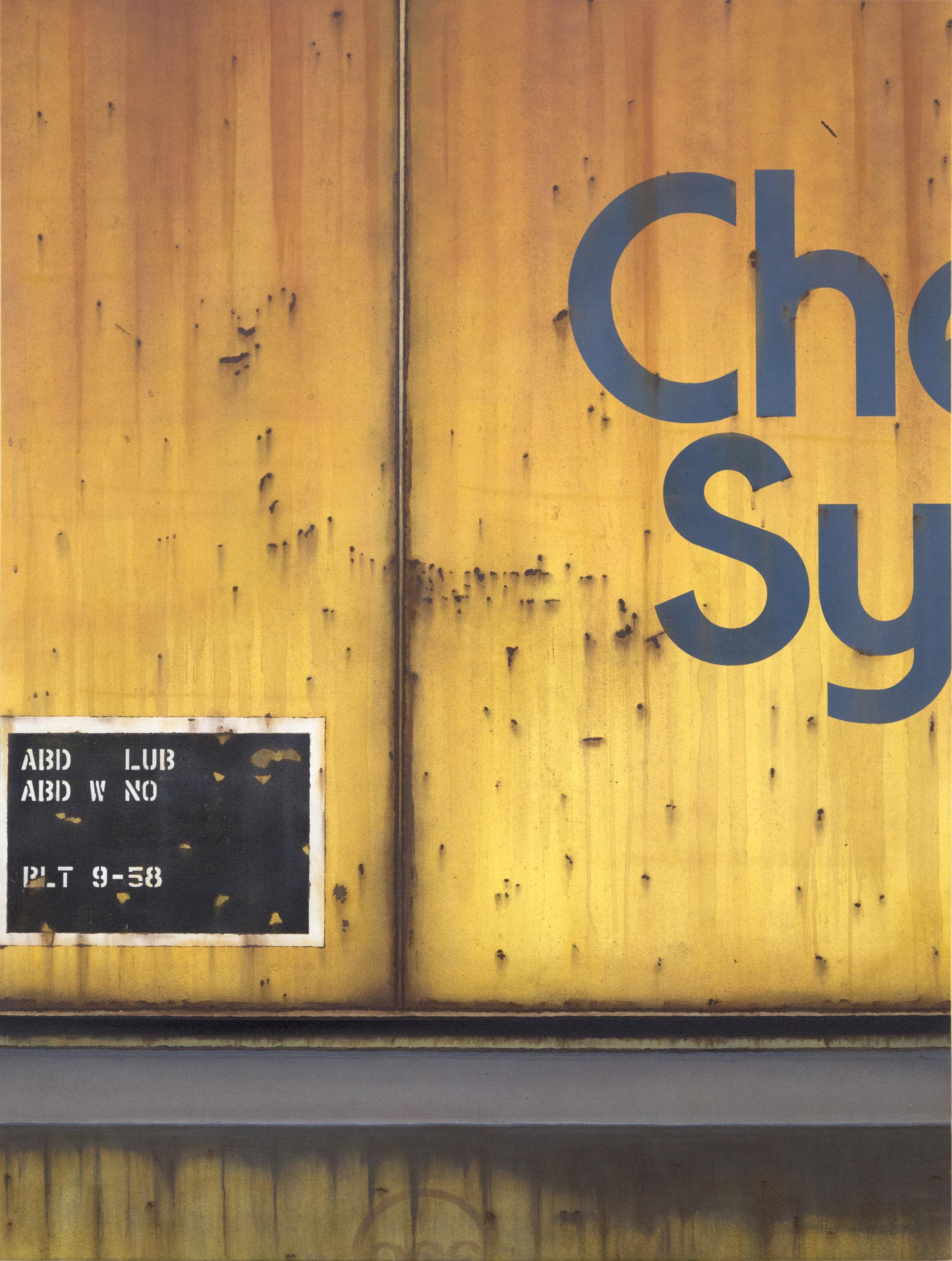 Blank Canvas #45 – Chessie Systems, Freight Train Painting, Boxcar Painting, Railroad Art, Tim Conlon Art