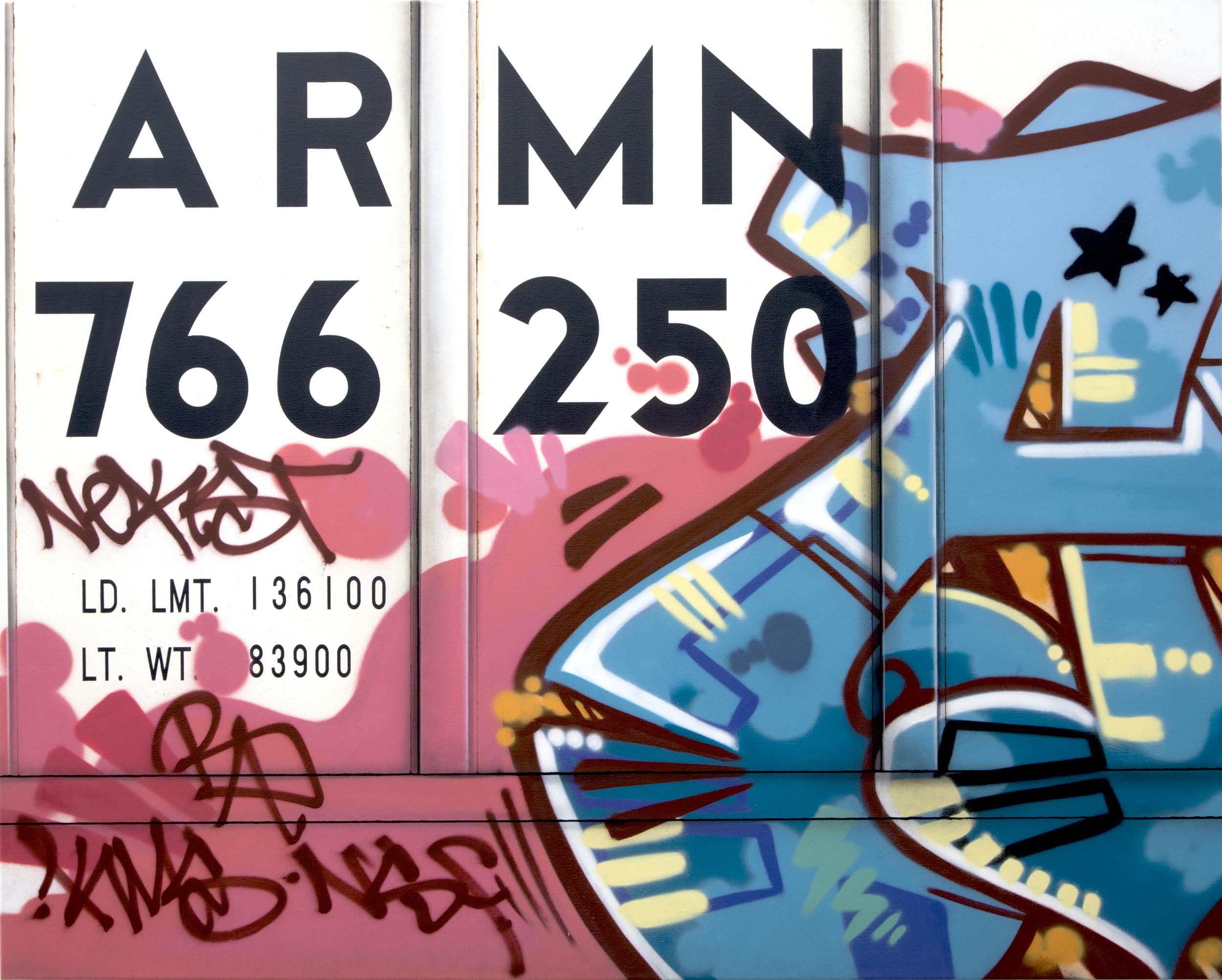 Blank Canvas #42 – ARMN, Freight Train Painting, Boxcar Painting, Railroad Art, Tim Conlon Art