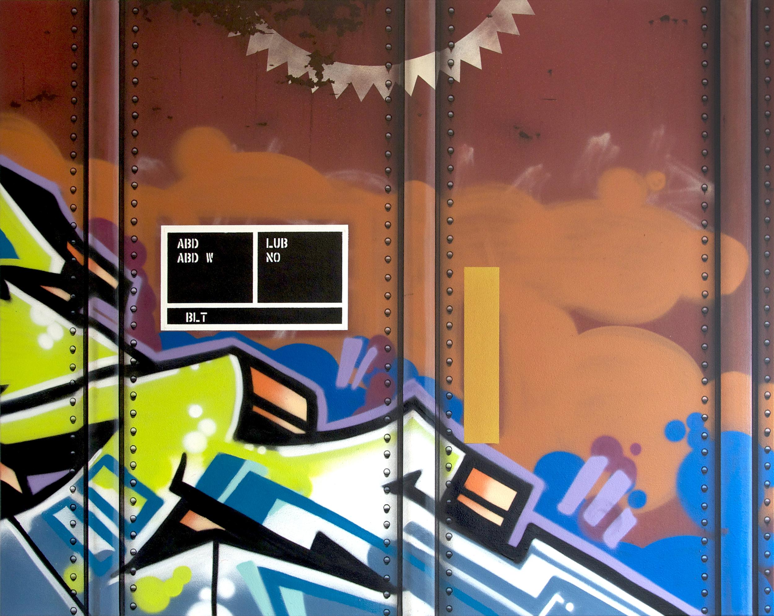 Blank Canvas #39 – MP, Freight Train Painting, Boxcar Painting, Railroad Art, Tim Conlon Art