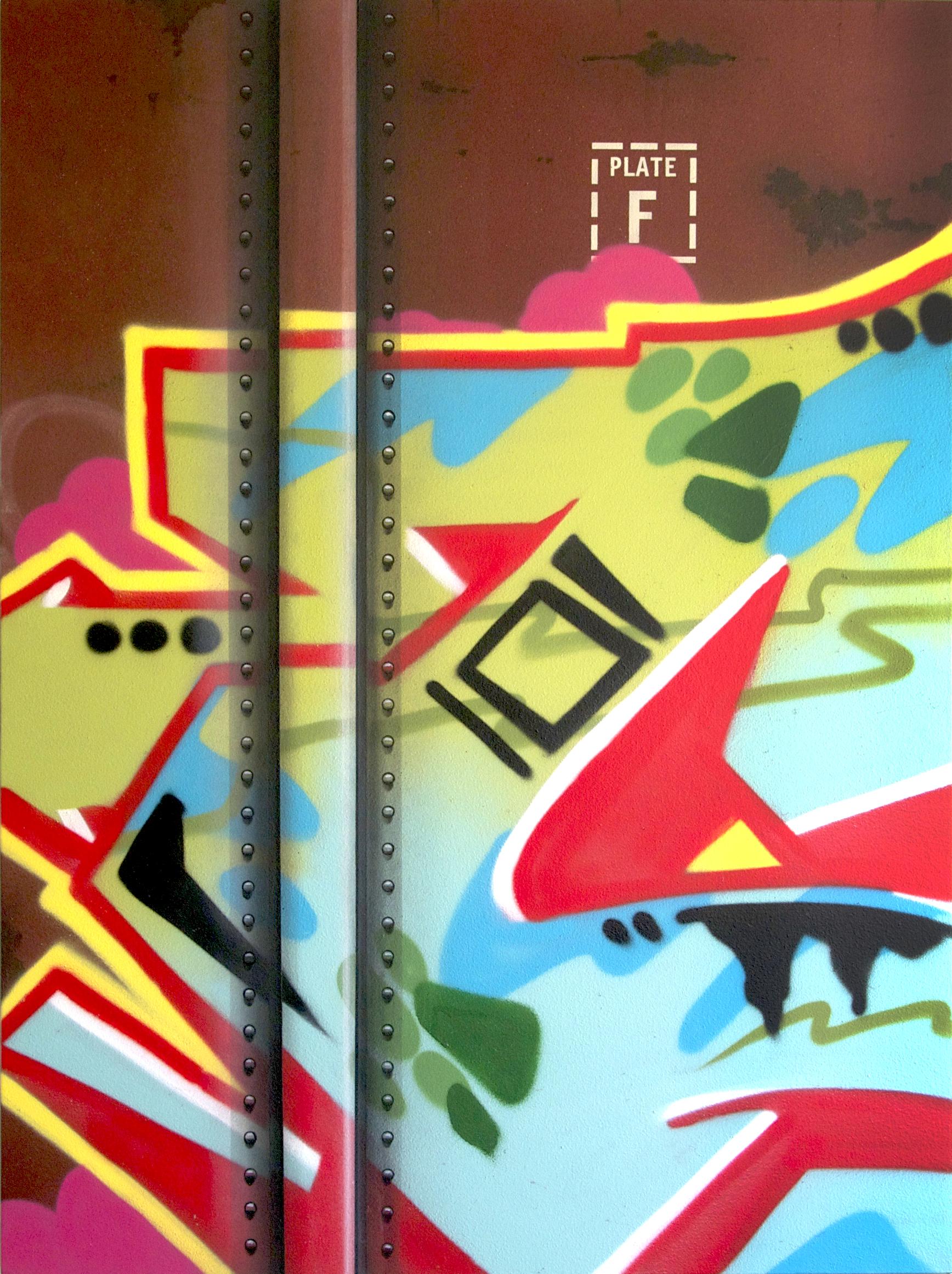Blank Canvas #38 - MP, Freight Train Painting, Boxcar Painting, Railroad Art, Tim Conlon Art