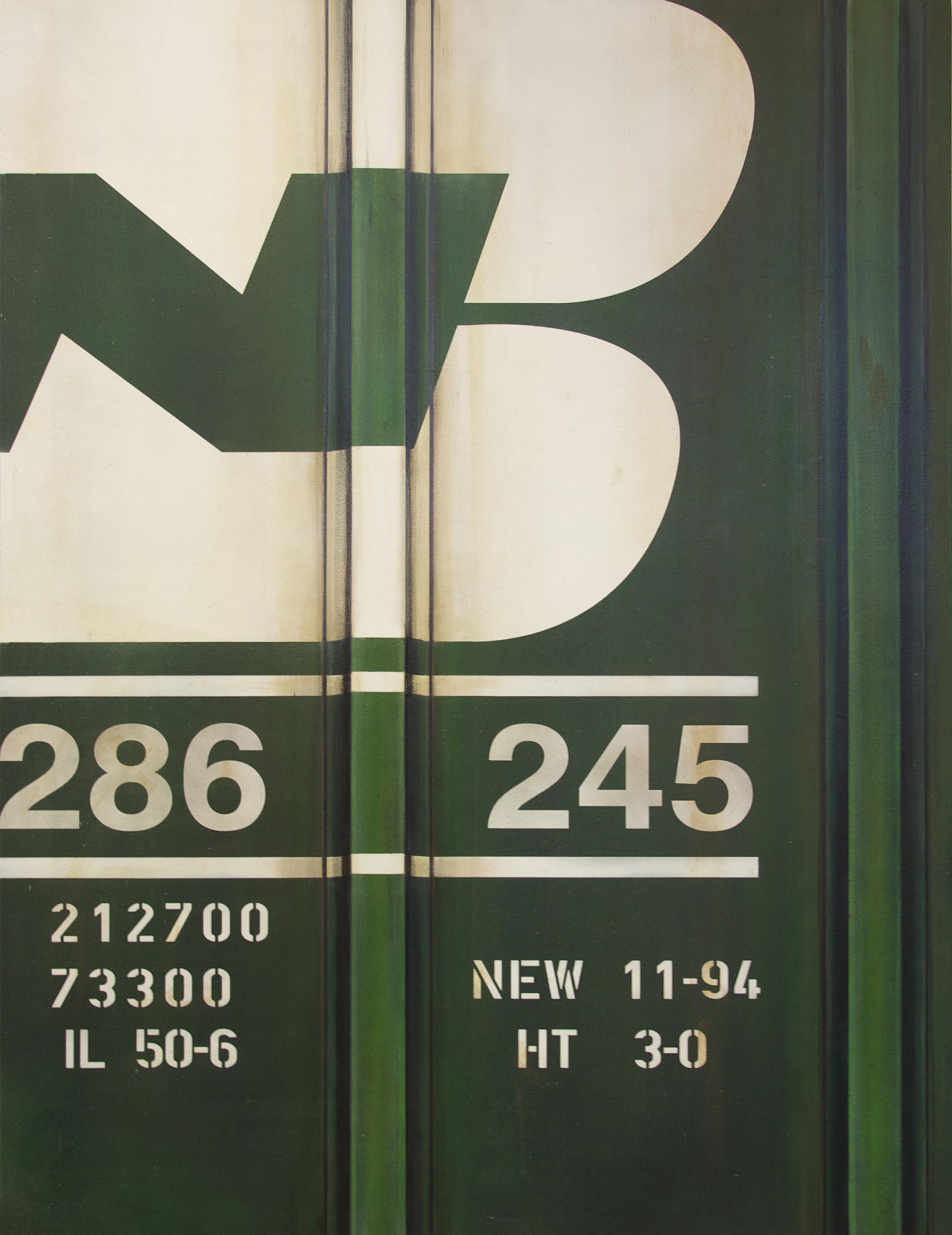 Blank Canvas #16 – BN, Freight Train Painting, Boxcar Painting, Railroad Art, Tim Conlon Art