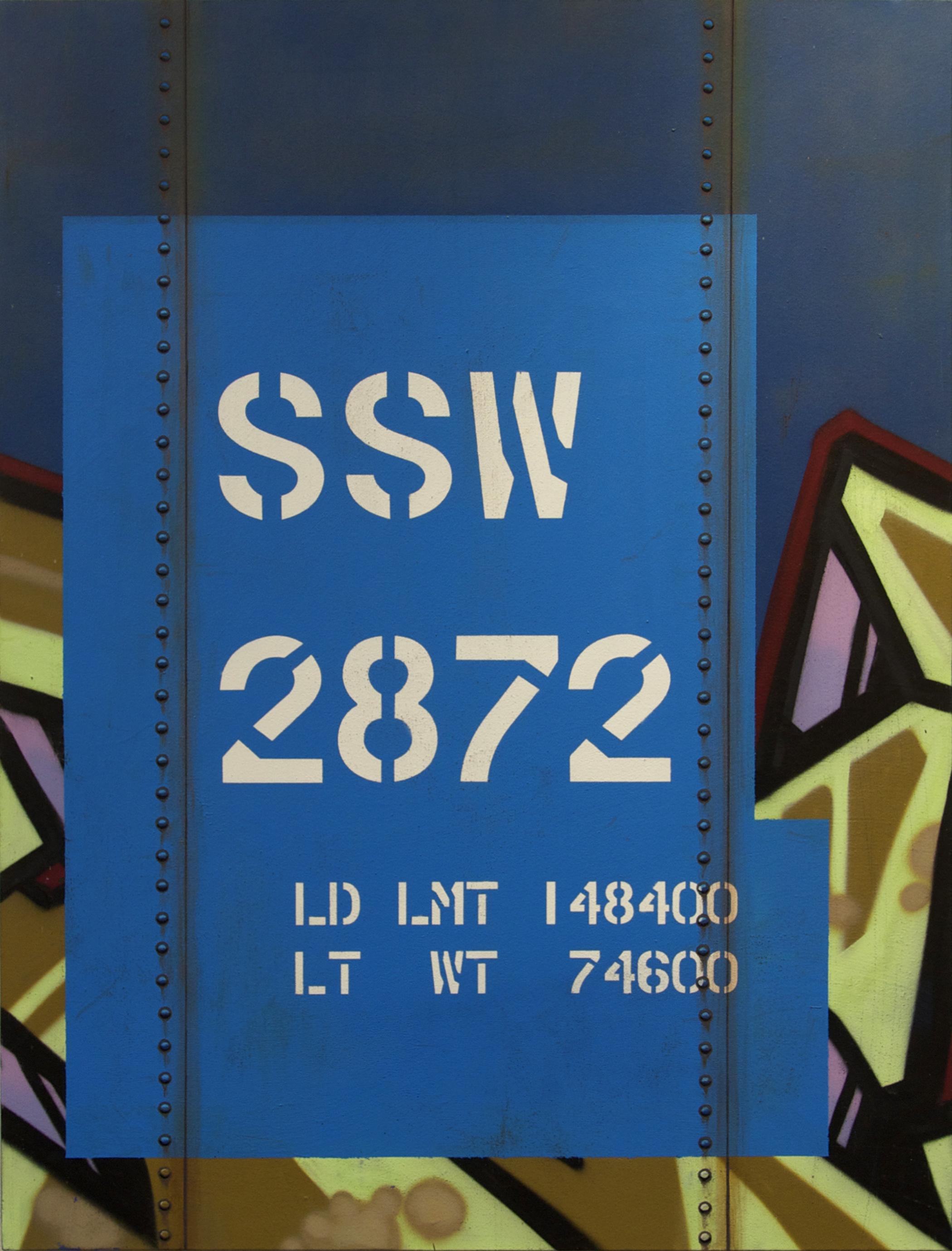 Blank Canvas #13 – SSW, Freight Train Painting, Boxcar Painting, Railroad Art, Tim Conlon Art